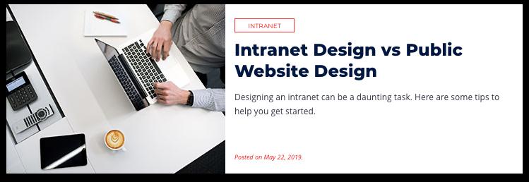 Intranet Design vs Public Website Design
