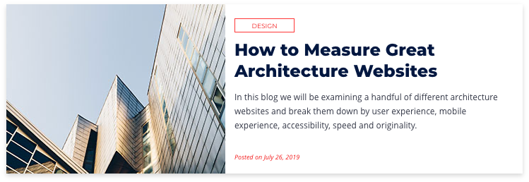 How to Measure Great Architecture Websites
