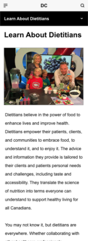 Learn about Dietitians