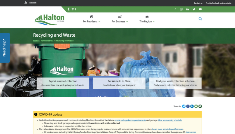 halton about us web page
