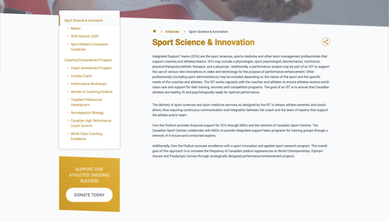 Sport Science & Innovation Page
