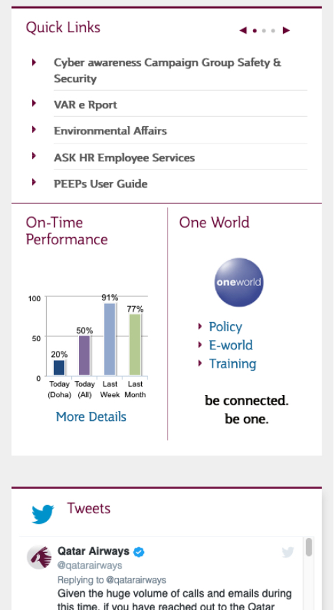 Airline Intranet mobile page 3