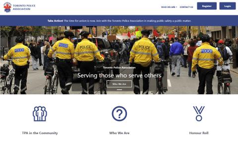 Toronto police association screen shot