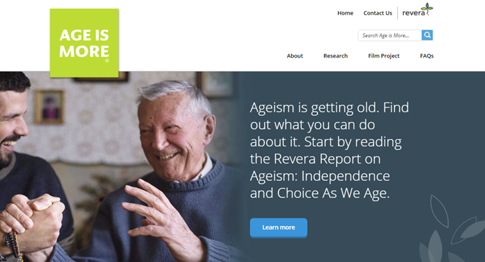 Age is more homepage for azure kentico case study