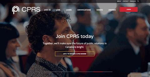 CPRS Website Screenshot